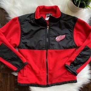 DETROIT RED WINGS NHL Fleece Jacket Youth Boy's S